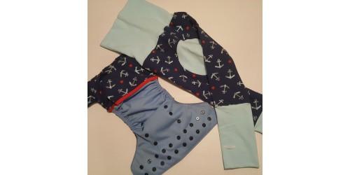 Duo pantalon et couche- ancre