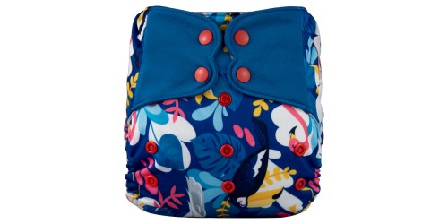 Elf diaper- Couche à poche-Ensemble de luxe- Big bird-snap
