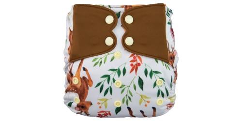 Elf diaper- Couche à poche-Ensemble de luxe- Deer-snap