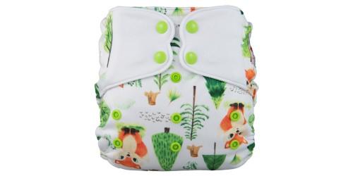 Elf diaper- Couche à poche-Ensemble de luxe- Foxy-snap