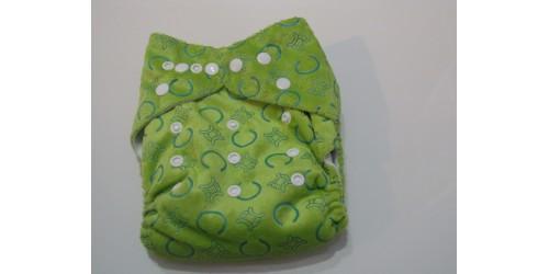Couche en Minky- J'aime le vert-NEUVE