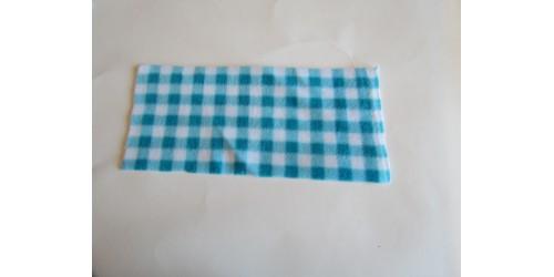 Feuillets lavables en micropolar à l'unité-Carreaux bleu