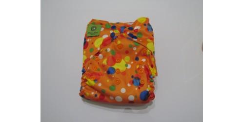 Couche Mini Kiwi à poche- orange bubble-snap