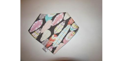 Bavoir (bandanas) coton-polar- Plume