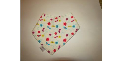 Bavoir (bandanas) coton-polar- fleur