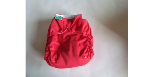 Couche Totsbots easy fit- rouge- Snap- version 3