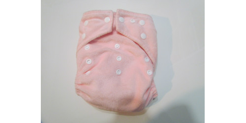 Kawaii baby- Rose pâle- extérieur en minky