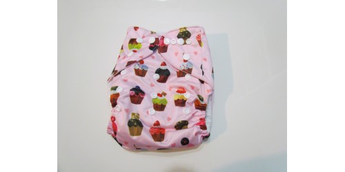 Couche Pick-a-Peck insert en bambou-Cup cake