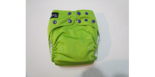 Funky fluff - Vert lime snap mauve-