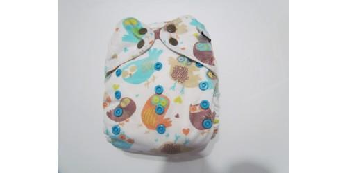 Couche Mini Kiwi à poche -hibou-snap-