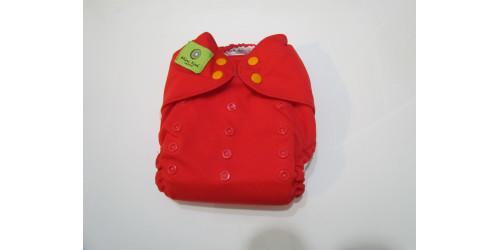 Couche Mini Kiwi à poche -rouge-snap-