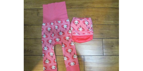 Duo pantalon et couche- Mon p'tit Minou
