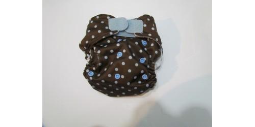 Blueberry-picoté bleu-velcro