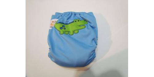 Kawaii baby- crocodile- velcro