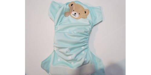 Kawaii baby- broderie ours- snap