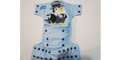 Couche EBB- broderie pingouin