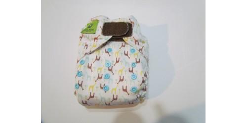 Couche Mini Kiwi à poche -petite giraffe garçon-velcro