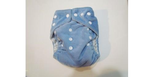 Kawaii baby- bleu- extérieur en minky- snap