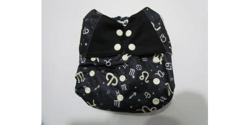 Elf diaper- Couche à poche- horoscope-snap- utilisé 2-3x