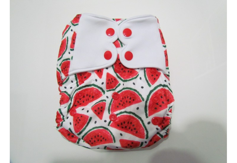 Elf diaper- Couche à poche-Ensemble de luxe- melon d'eau-snap