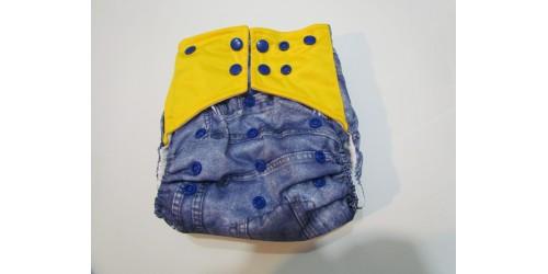 Couche  à poche-snap jeans
