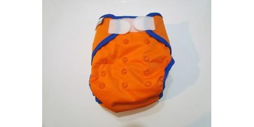 Couche best bottom- orange- velcro- seulement lavé