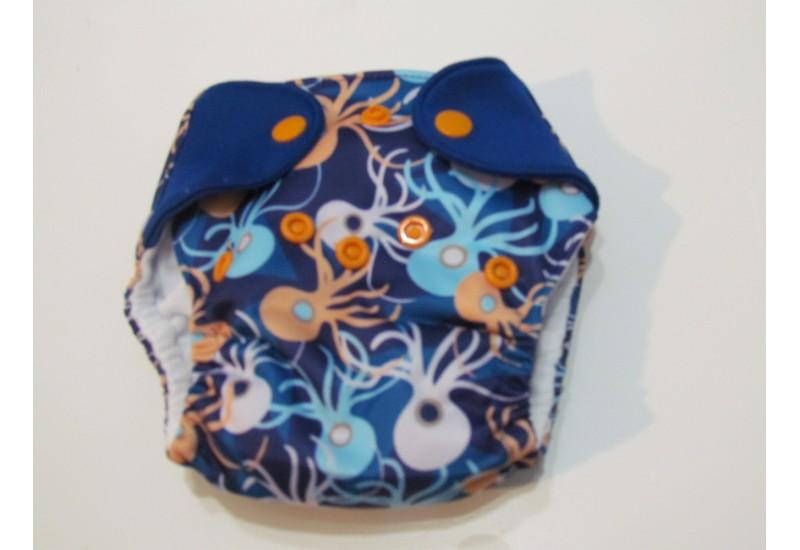 Elf diaper- couche Nouveau-né-5-14 livres- Pieuvre