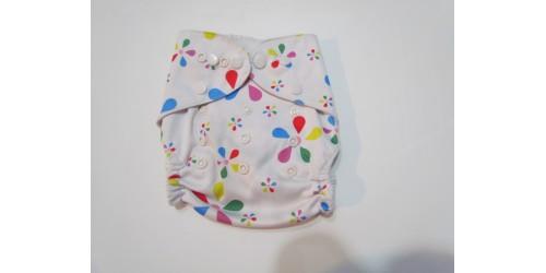 Couche  à poche- fleur multicolor