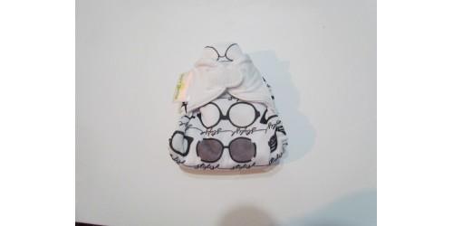 Bumgenius nouvau-né- Audrey- lunette dessiné en noir- utilisé 3-4 x