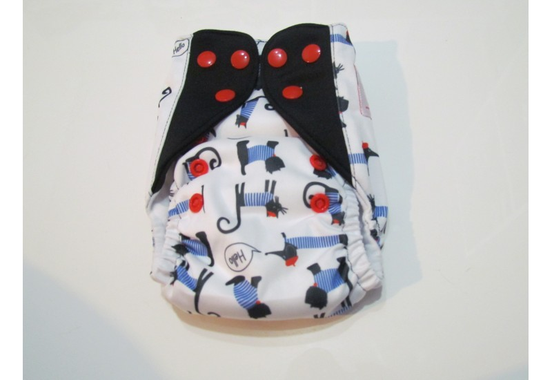 Elf diaper- couche Nouveau-né- 8-20 livres-Chien parisien