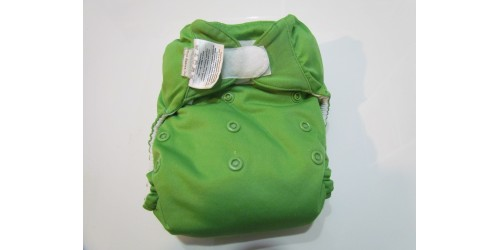 Bumgenius à Poche- Ribbit vert foncé-velcro