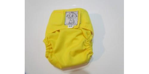 Bic et Biquette NOUVEAU-NÉ-jaune-velcro