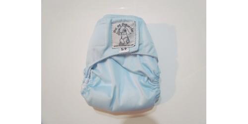Bic et Biquette NOUVEAU-NÉ-à poche- bleu pâle