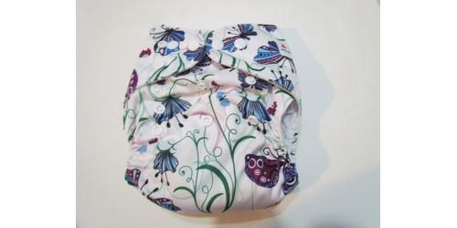 Couche Alva-fleur et papillon