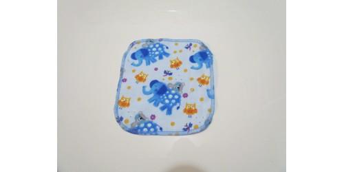 Lingette Bébé Nana- Petit 6x6- Éléphant Bleu