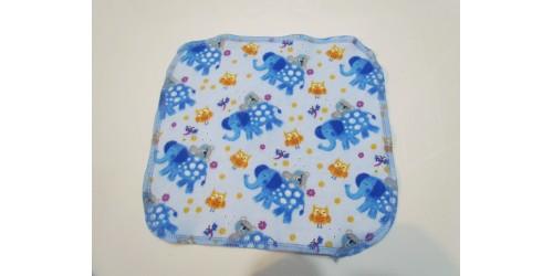 Lingette Bébé Nana- Moyen 9x9- Éléphant Bleu
