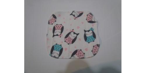 Lingette Bébé Nana- Petit 6x6- Hibou