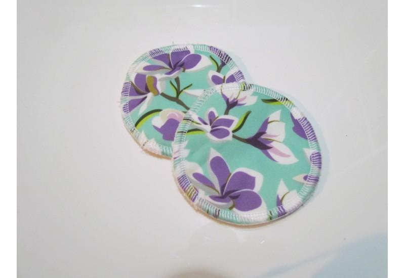 Compresses d'allaitement LiliBelle- Fleur mauve