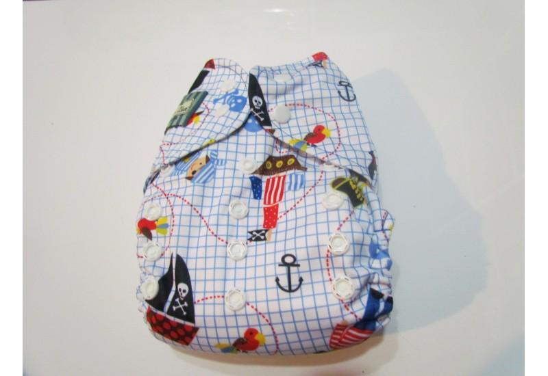 Couche Mini Kiwi à poche - Pirate- Nouvelle génération- Snap- Peu utilisé