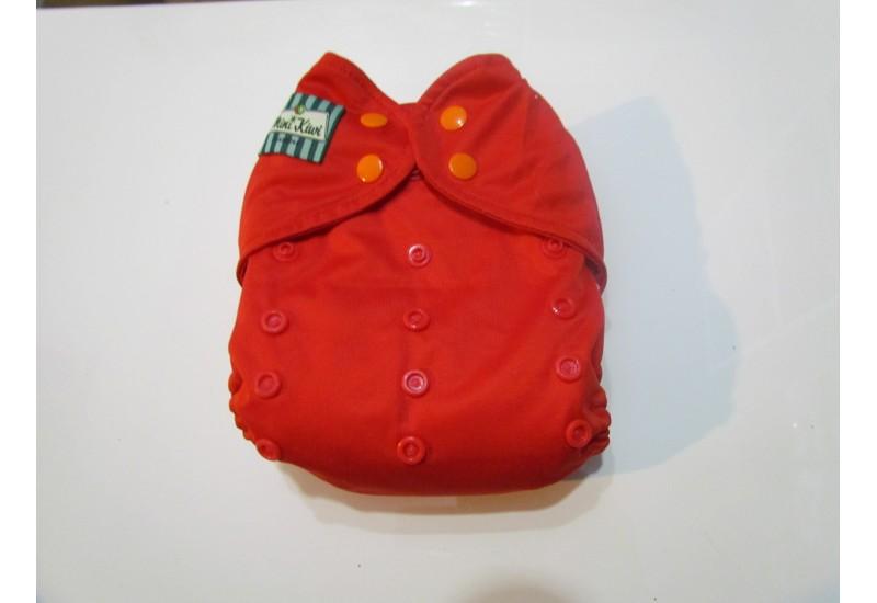 Couche Mini Kiwi à poche - Rouge- Nouvelle génération- Snap- Peu utilisé