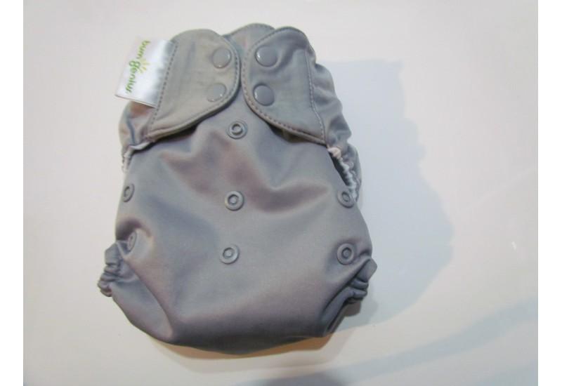 Bumgenius à poche- Armadillo gris- Snap- Petit accro au niveau d'un snap