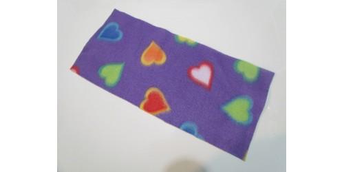 Feuillets lavables en micropolar à l'unité- Coeur