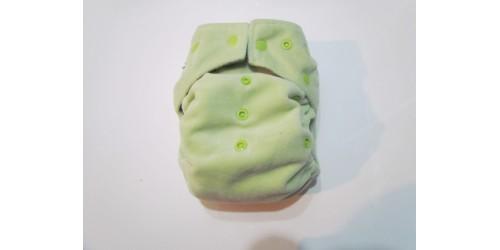 Kawaii baby-Vert- Extérieur en minky-Snap