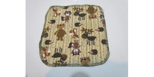 Lingette Bébé Nana- Moyen 9x9- Animaux de la forêt