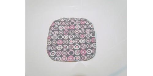 Lingette Bébé Nana- Petit 6x6- Cercle rose