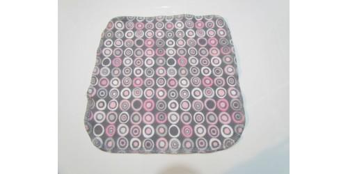 Lingette Bébé Nana- Moyen 9x9- Cercle rose