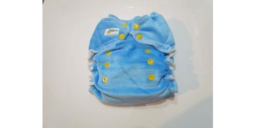 Couche moulée de nuit Agrumette- Bleu snap jaune