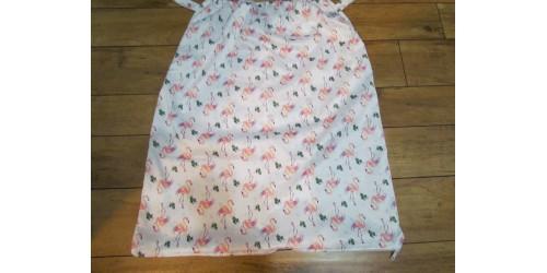 Grand sac pour couches souillées DE LUXE- La Petite Ourse- Flamant