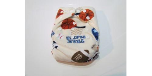 Couche à poche- Extérieur en minky- Ballon