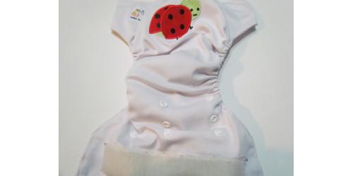 Kawaii baby- Broderie Coccinelle-Velcro